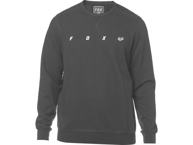 Fox Maxis Crew - Camisa manga larga Hombre - negro